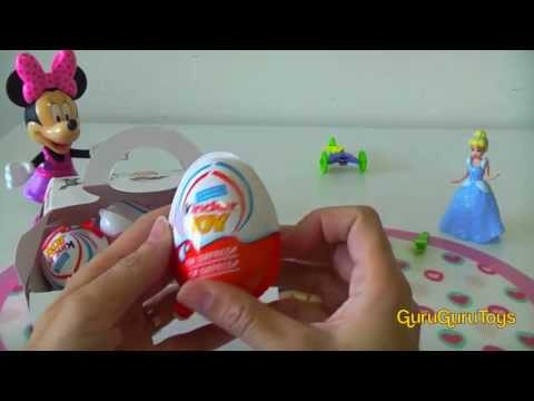 6 Kinder Eggs Surprise Monster University Choco 2013 Easter Egg Huevo Kinder sorpresa Disney Pixar