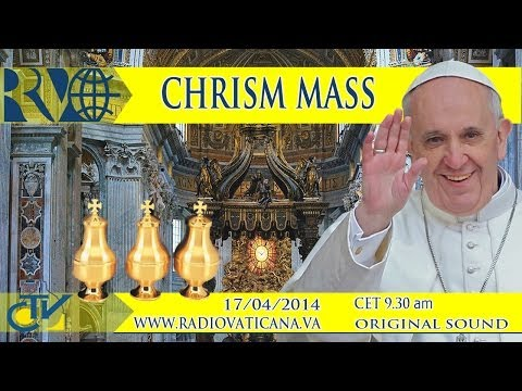 Santa Messa del Crisma con Papa Francesco dalla Basilica Vaticana REPLAY TV