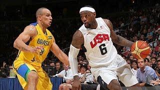 Brazil @ USA 2012 Olympic Basketball Exhibition FULL GAME HD 720p English