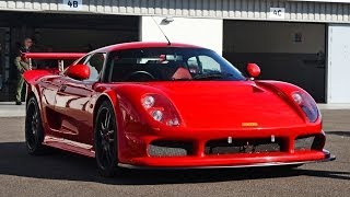 Noble M12 onboard track scenes at Silverstone National Circuit.