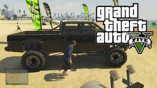 "GTA 5: Awesome & Rare Cars - ""Monster Truck"" SandKing XL Location (GTA V)"