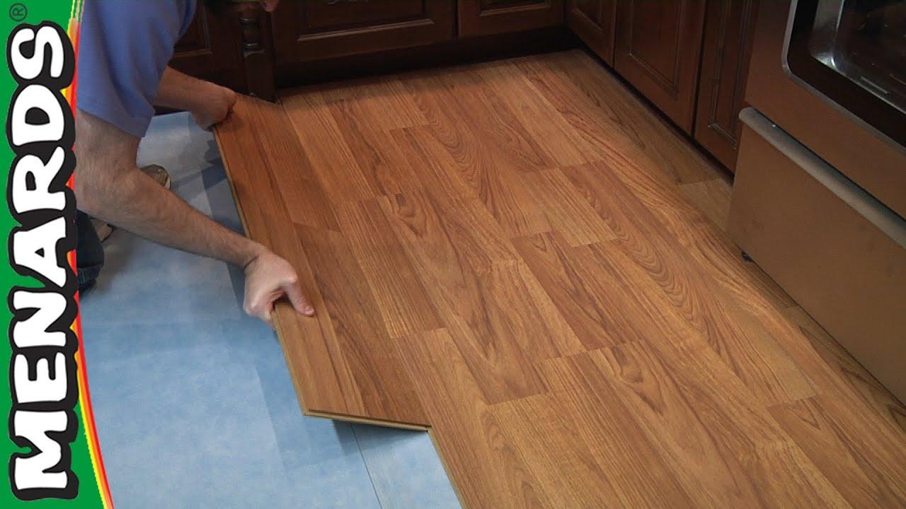 Laminate Flooring How To Install Menards Youtube