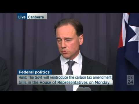#auspol Eric Abetz & Greg Hunt are confident of repealing carbon tax next week