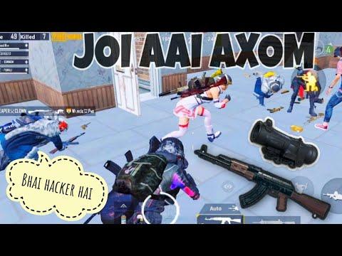 Bhai Ye Shockwave  Hacker  Random axom Team |shockwave | AKM + 6X Scop | Team Axom | pubg gameplay