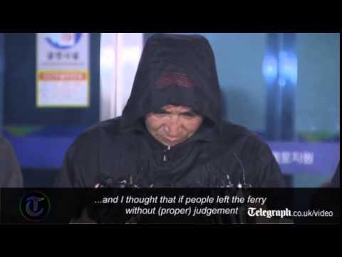 South Korea ferry captain apologises