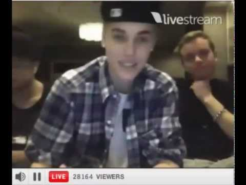 Justin BieberTwitcam Full Video!