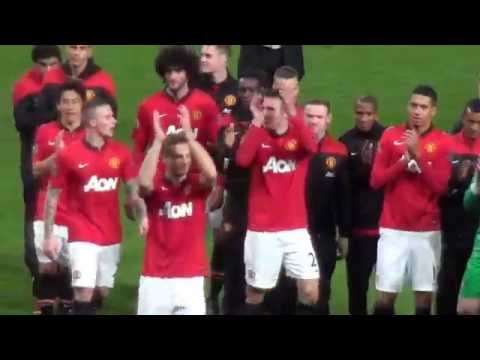 Goodbye Nemanja Vidic - Salutes the Stretford End - His Final Speech - His Final Lap of Honour