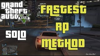 GTA V ONLINE: Fastest SOLO RP METHOD! AFTER 1.07 LEVEL