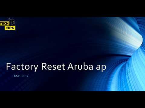 How to Factory reset aruba ap