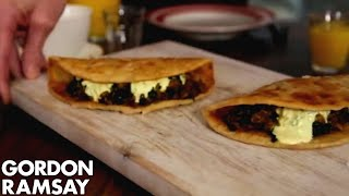 Indian Spiced Egg & Spinach Wrap | Gordon Ramsay
