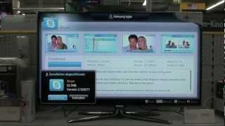 Samsung UE55 ES 8090 Skype Einrichten EEK A