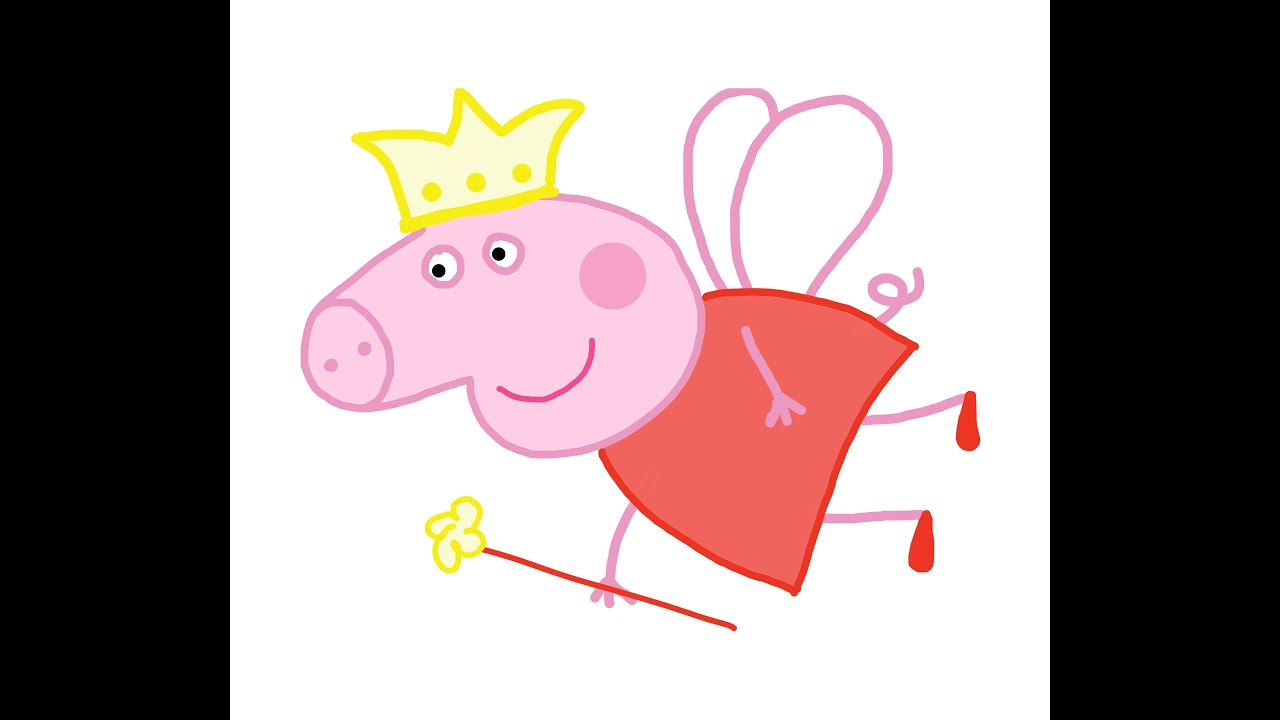 Image [ 48 of 50 ] - Free Coloring Pages Of Peppa Pig Fairy Part of ...