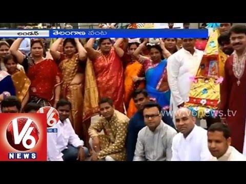 Telangana NRIs grandly celebrated Bonalu in London