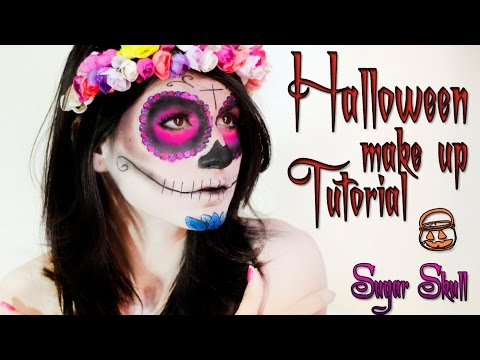 Halloween makeup tutorial- Sugar Skull -Caveira mexicana