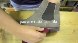 pulizia scarpe camoscio
