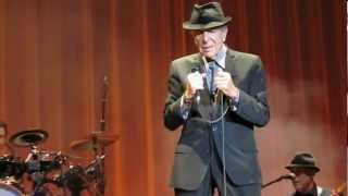 Leonard Cohen - So Long Marianne (live)