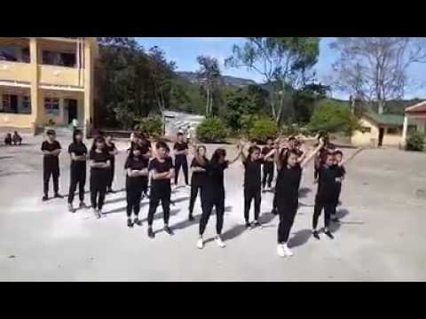 Giải nhất Nhảy dân vu thcs lạc xuâñ