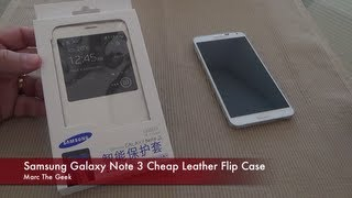 Samsung Galaxy Note 3 Cheap Leather Flip Case