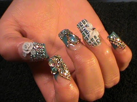 Uñas Estilo Sinaloa - Winter Bling Nails