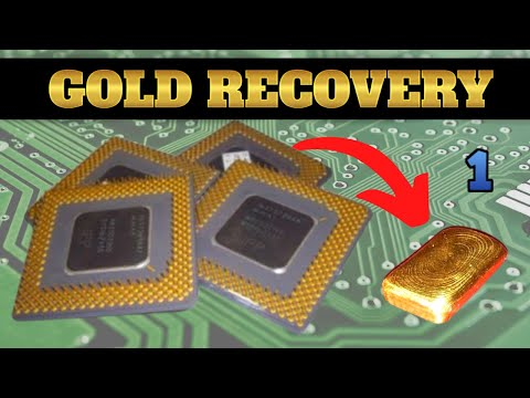 Scrap Ceramic CPU Gold Recovery - Part 1