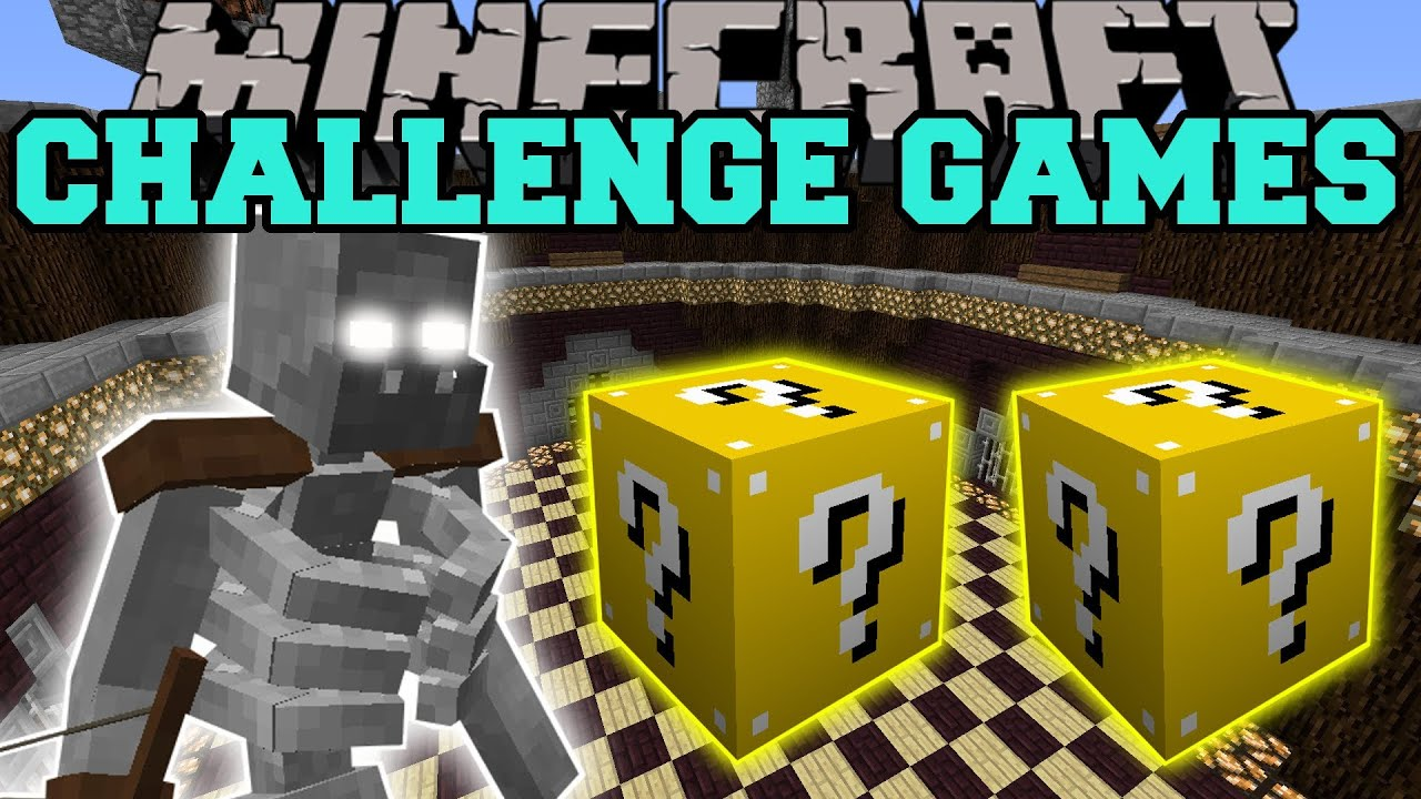 Challenge games lucky block mod modded mini game youtube