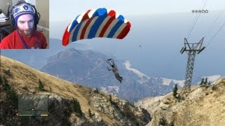 Fun Things To Do In GTA 5 MotorCycle Sky Dive (Grand