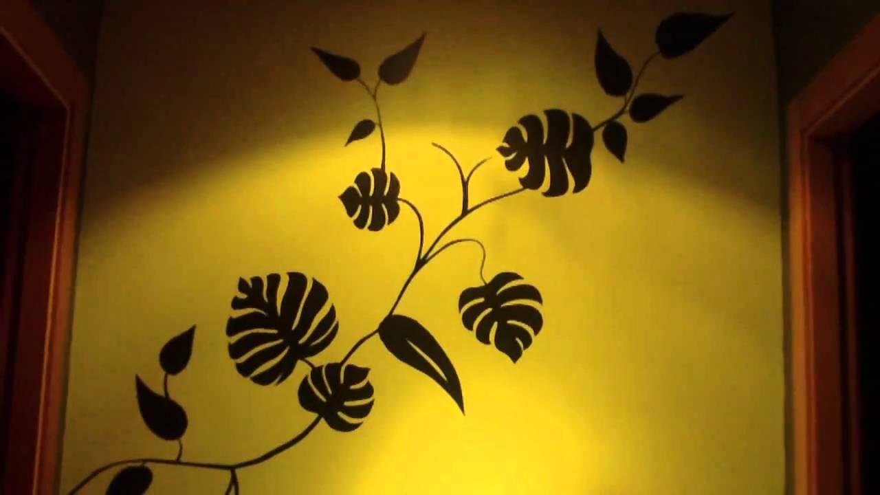Dibujos artisticos dibujar en la pared dibujo en pared dibujar en las paredes youtube - Plantillas para dibujar en la pared ...