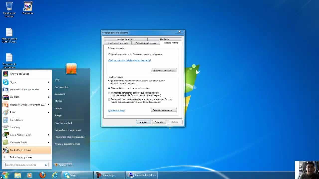 Conexion a escritorio remoto windows 7 youtube for Conexion escritorio remoto windows 8
