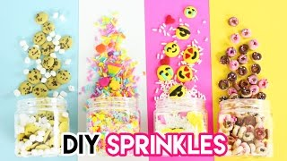 How to Make DIY Sprinkles (Emojis, Donuts, Funfetti, and Cookies)!