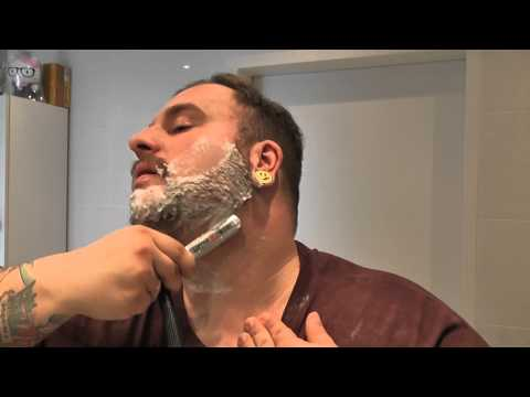 Shaving with a Gold Dollar Straight Razor