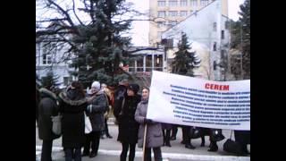 Protest moldovenist la Palatul Republicii