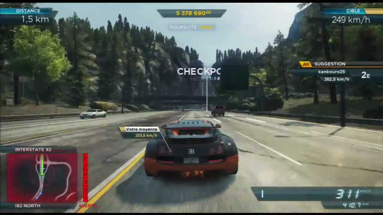 need for speed most wanted 2012 needle point bugatti veyron ps3 youtube. Black Bedroom Furniture Sets. Home Design Ideas