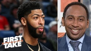 The Pelicans should offer Anthony Davis a max deal, then build around Zion - Stephen A.   First Take