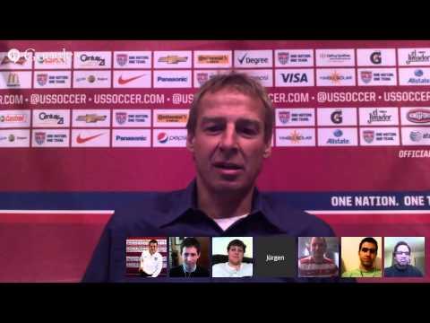 Jurgen Klinsmann Google Hangout