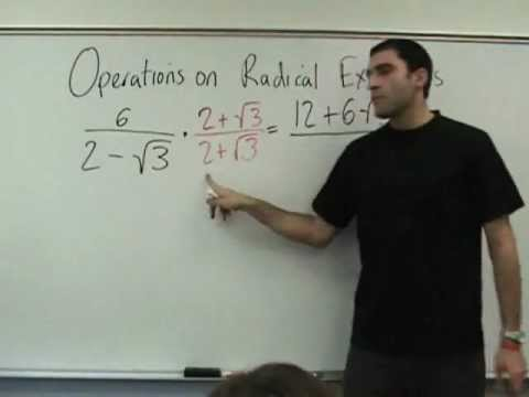Algebra 2 - Operations on Radical Expressions
