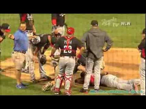 (Full VIDEO) Aroldis Chapman Hit in the Face With Baseball