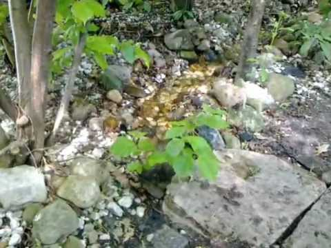 Mijn kabbelende beekje in de tuin youtube - Outs zwembad in de tuin ...