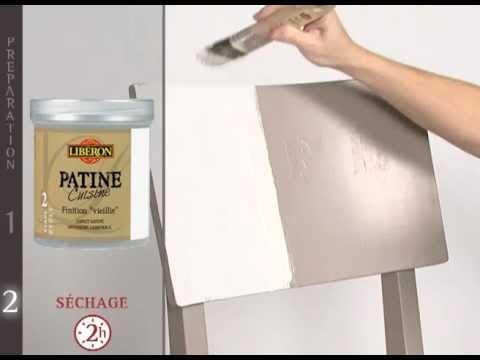 Peinture meubles cuisine patine cuisine de lib ron youtube for Peinture liberon patine