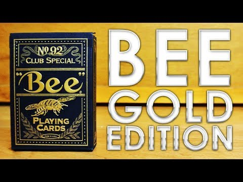 Deck Review - Bee Gold Edition Coterie Playing Cards [HD]