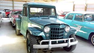 1951 Jeep Willys Pick-up Four Wheel Drive - vintage 4x4 view on youtube.com tube online.