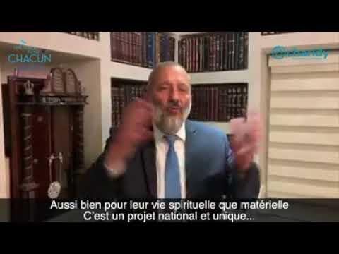 Un projet qui va permettre d' accueillir, d'intégrer les francophones rav Arie Dery ministre de l interieur d Israel