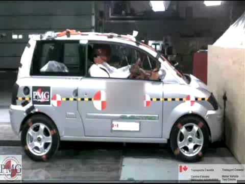 Zenn Car Crash Test Video At 40 Kph Barrier Impact Youtube