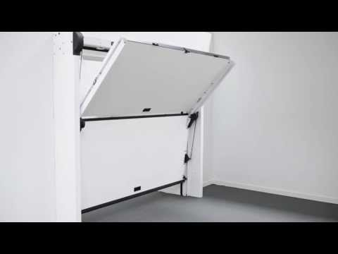NEW OVERLAP SILVELOX THE FIRST SECTIONAL GARAGE DOOR WITHOUT CEILING TRACKS
