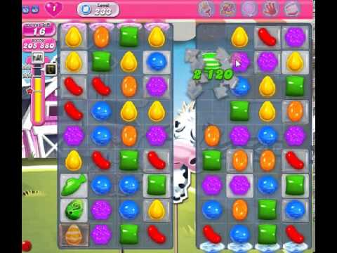 How to beat Candy Crush Saga Level 233 - 3 Stars - No Boosters - 257