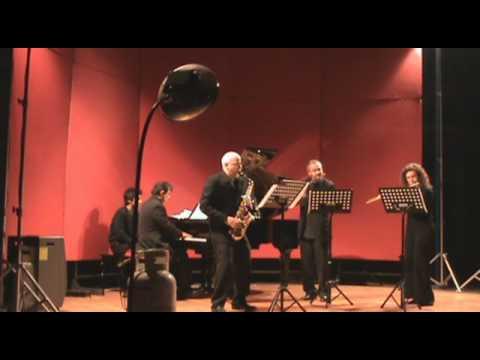 Rapsodia de Arthur Honegger, para dos flautas, saxofón alto y piano