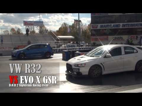 VW Golf R Vs EVO X GSR