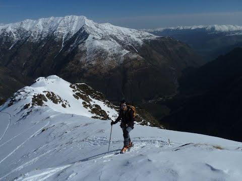 Ascensión y descenso con esquís del Pic d'Augas