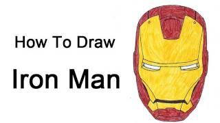 How To Draw Iron Man (Head/Helmet)