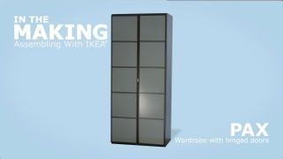 Armadio Ikea Pax 6 Ante.Ikea Pax Wardrobe With Hinged Doors Assembly Instructions Youtube