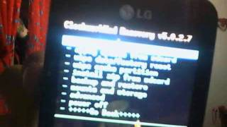 CWM Recovery Funcionando En LG E510 HUB